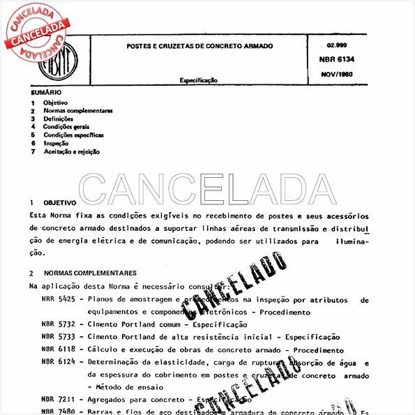 NBR6134 de 09/1985