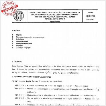 NBR6783 de 08/1981