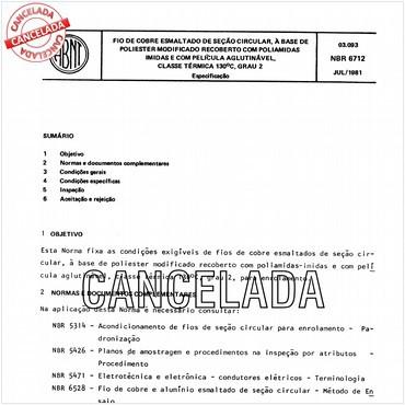 NBR6712 de 07/1981