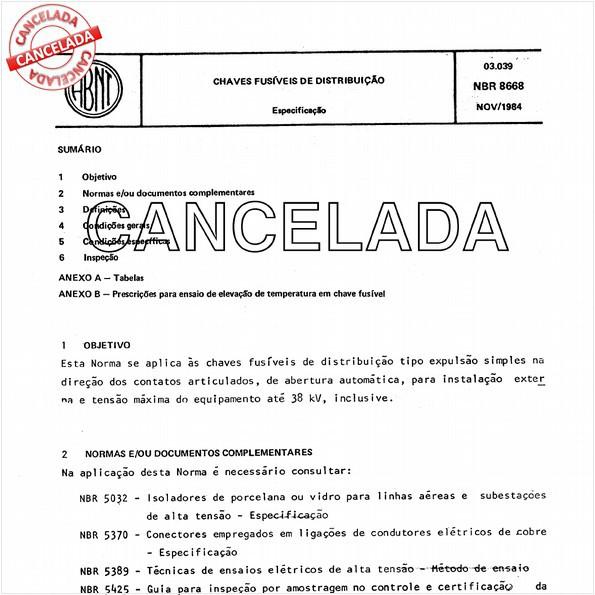 NBR8668 de 12/1990