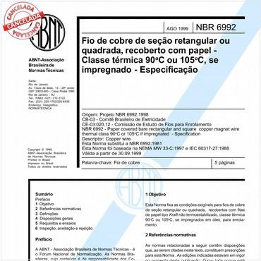 NBR6992 de 08/1999