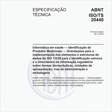ABNT ISO/TS20440 de 11/2019