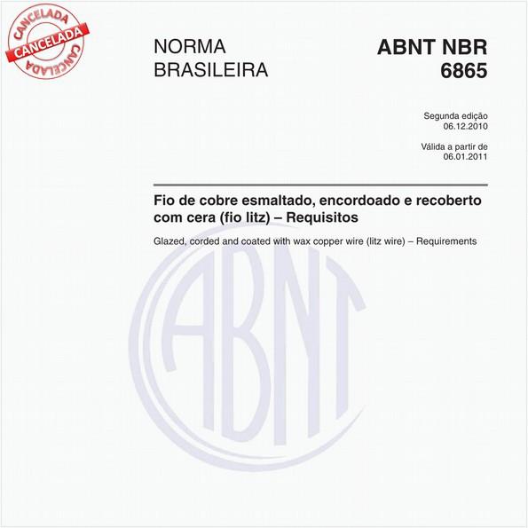 Fio de cobre esmaltado, encordoado e recoberto com cera (fio litz) - Requisitos