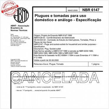 NBR6147 de 05/2000