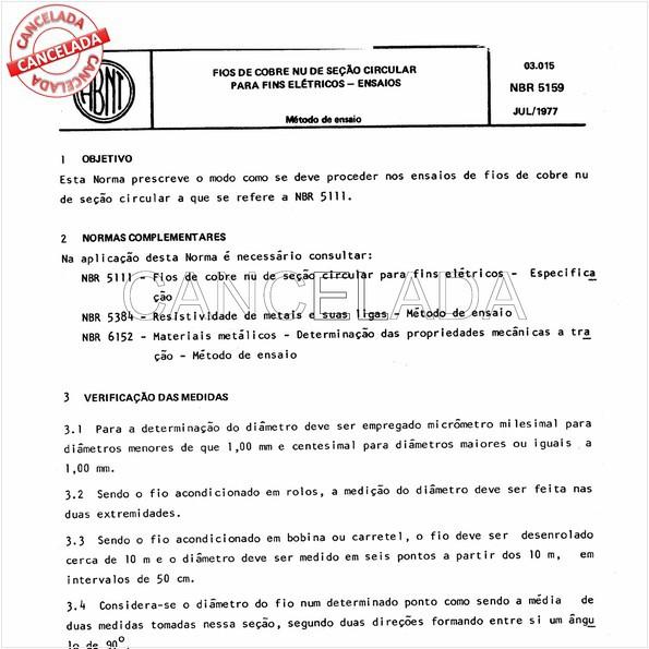 NBR5159 de 09/1987
