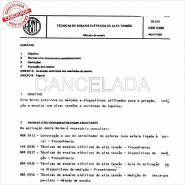 NBR5389 de 04/1992
