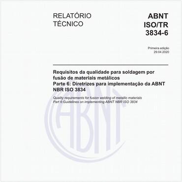 ABNT ISO/TR3834-6 de 04/2020