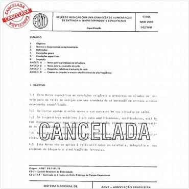 NBR7099 de 12/1981