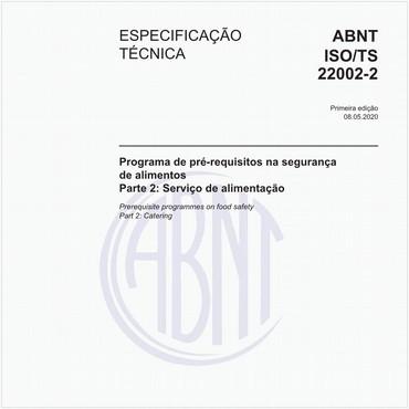 ABNT ISO/TS22002-2 de 05/2020