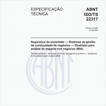 ABNT ISO/TS22317 de 06/2020