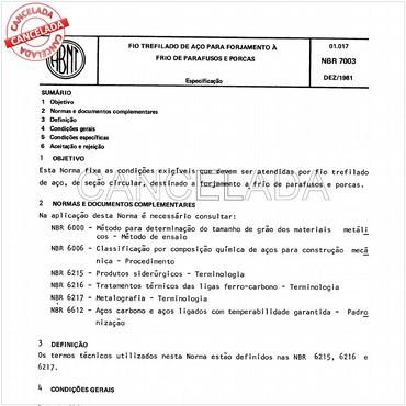NBR7003 de 12/1981