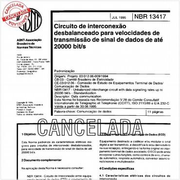 NBR13417 de 07/1995