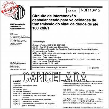 NBR13415 de 07/1995