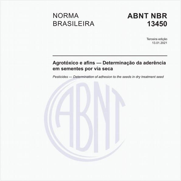 Agrotóxico e afins — Determinação da aderência em sementes por via seca — Método de ensaio