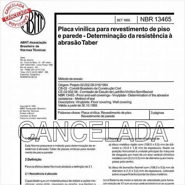 NBR13465 de 04/2006