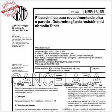 NBR13465 de 09/1995