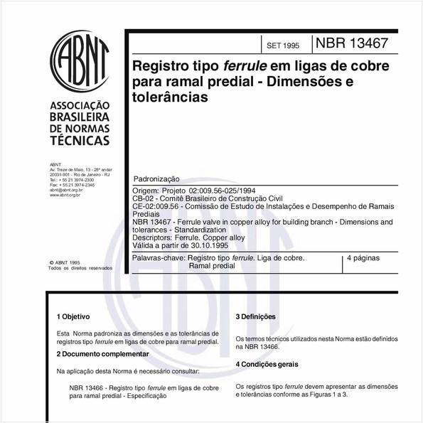 NBR13467 de 09/1995
