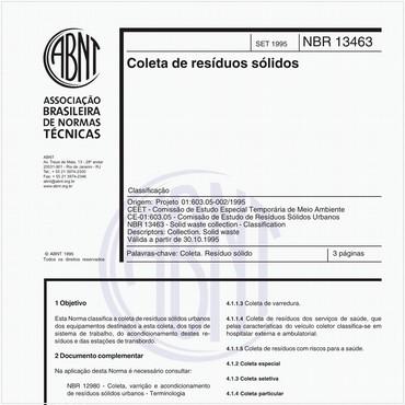 NBR13463 de 09/1995