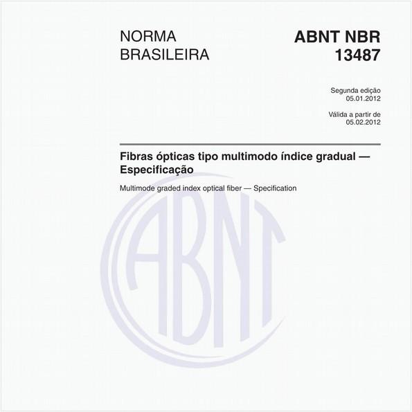 Fibras ópticas tipo multimodo índice gradual — Especificação