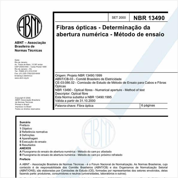 NBR13490 de 09/2000