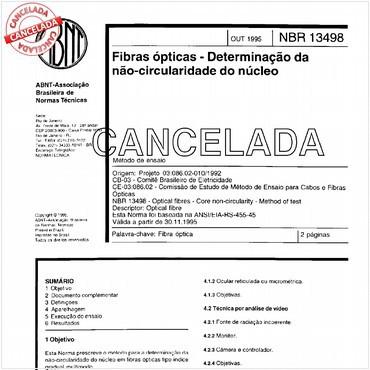 NBR13498 de 10/1995
