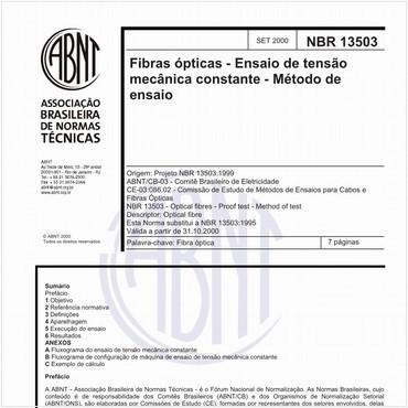 NBR13503 de 09/2000