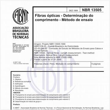 NBR13505 de 12/1999