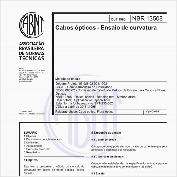 NBR13508 de 10/1995
