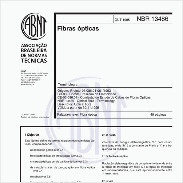 NBR13486 de 10/1995