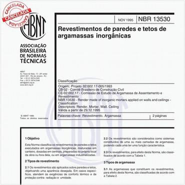 NBR13530 de 11/1995