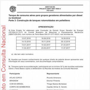 Visualizar: Projeto ABNT NBR 16684-3