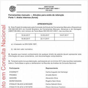 Visualizar: Projeto ABNT NBR 16685-1