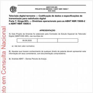 Visualizar: Projeto de Emenda ABNT NBR 15606-7