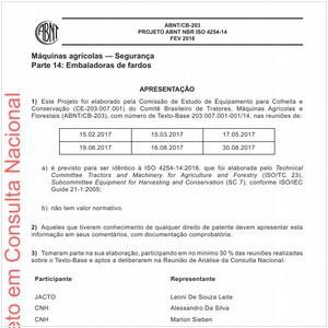 Visualizar: Projeto ABNT NBR ISO 4254-14