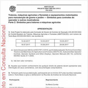 Visualizar: Projeto ABNT NBR ISO 3767-2