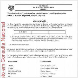 Visualizar: Projeto ABNT NBR ISO 5692-2