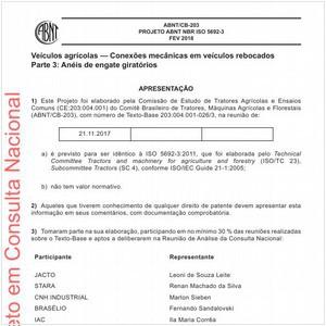 Visualizar: Projeto ABNT NBR ISO 5692-3