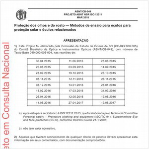 Visualizar: PROJETO ABNT NBR ISO 12311