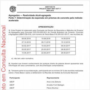 Visualizar: Projeto ABNT NBR 15577-7