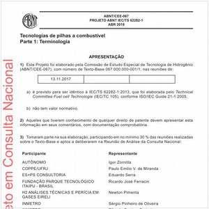 Visualizar: Projeto ABNT IEC/TS 62282-1