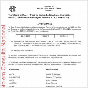 Visualizar: Projeto ABNT NBR ISO 12640-1