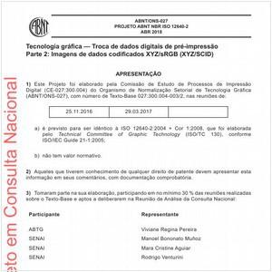 Visualizar: Projeto ABNT NBR ISO 12640-2