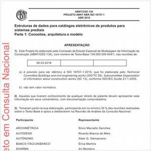 Visualizar: Projeto ABNT NBR ISO 16757-1