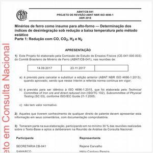 Visualizar: Projeto de Revisão ABNT NBR ISO 4696-1