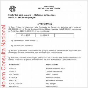 Visualizar: Projeto ABNT NBR 15723-14