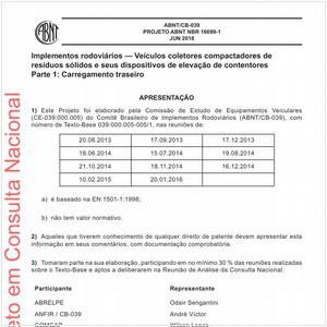 Visualizar: Projeto ABNT NBR 16699-1