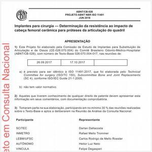 Visualizar: Projeto ABNT NBR ISO 11491