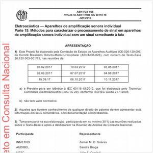 Visualizar: Projeto ABNT NBR IEC 60118-15