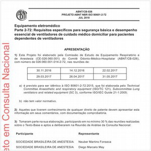 Visualizar: Projeto ABNT NBR ISO 80601-2-72