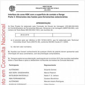 Visualizar: Projeto ABNT NBR ISO 12164-3